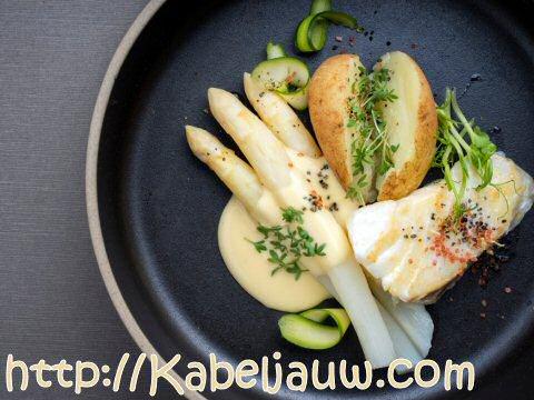 Kabeljauw met asperges