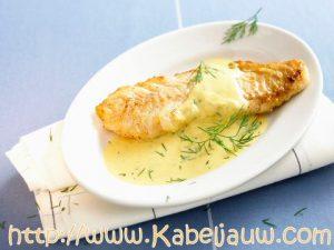 Kabeljauw met mosterdsaus