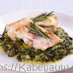 4 ingrediënten kabeljauw met spinazie recept van Pascale Naessens
